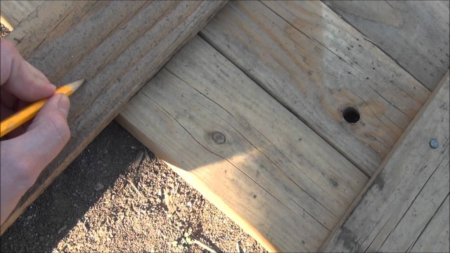 How to build a raised bed garden from pallets.