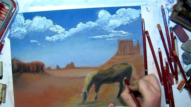 Desert Landscape Speed Drawing