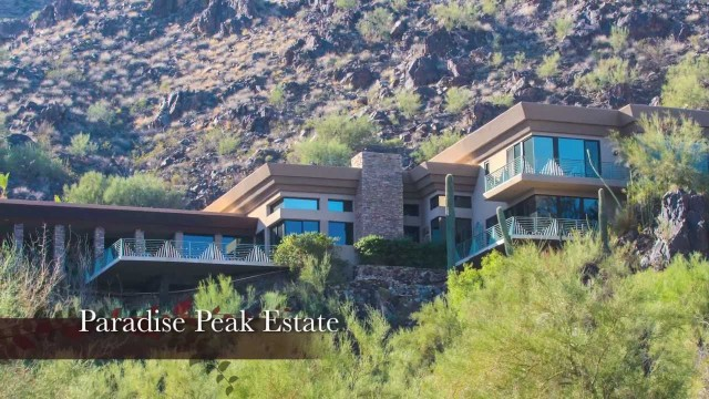 Paradise Valley Arizona Luxury Property For Sale By Auction | Contemporary Mountainside Estate