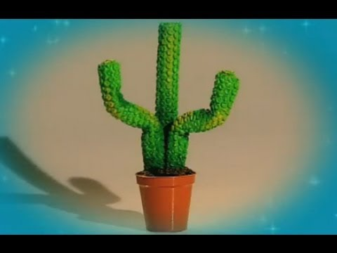 Mister Maker | How to Make a Bubble Wrap Cactus