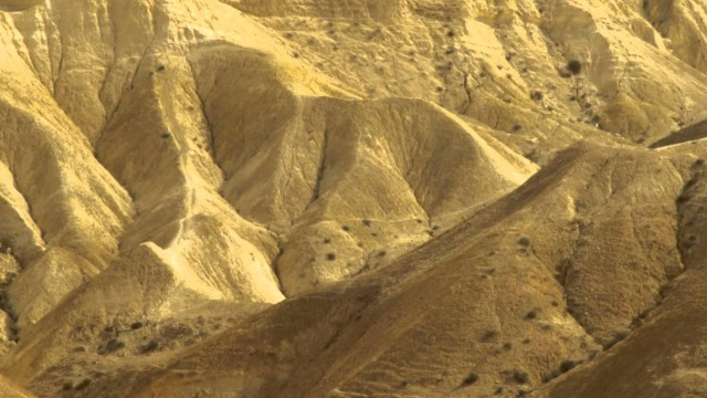 A mountainous desert landscape shot in Israel.