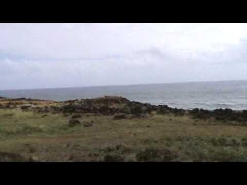Easter Island – A landscape of a desert island