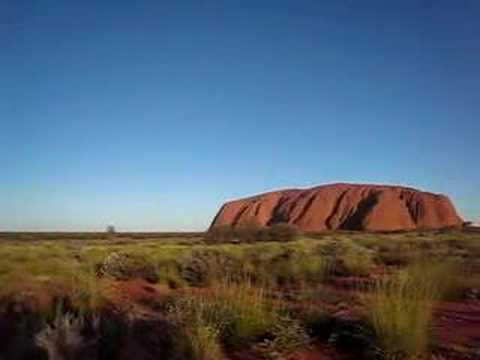 Uluru and desert landscape