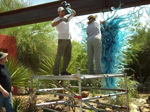 Desert Botanical Garden: The Disassembling of Chihuly's Chandelier