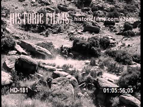 HISTORIC FILMS HD COLLECTION – Cowboys Riding Through Mountain Terrain