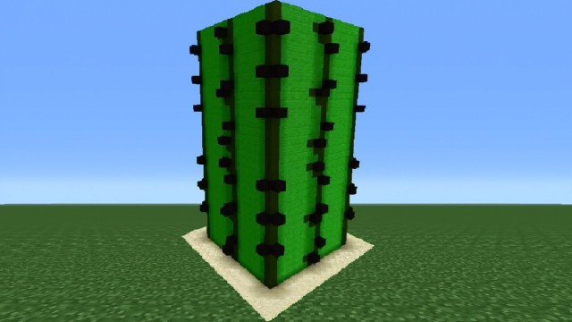 Minecraft Tutorial: How To Make A Cactus