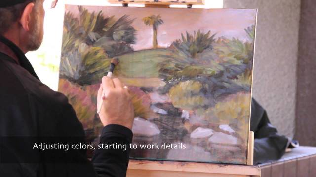 G Baron Desert Oil Painting Demonstration 1