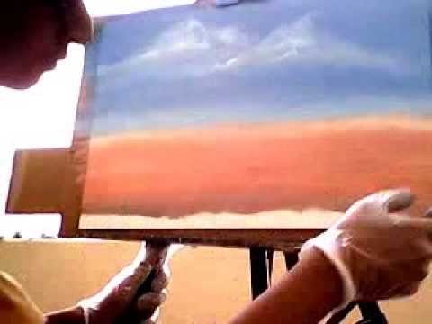 Oil Painting :Desert full video by Aiman Almurish