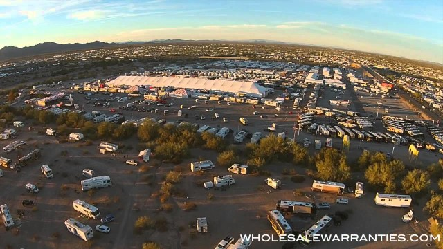 Spectacular Aerial Footage of 2015 Quartzsite RV Show in Arizona