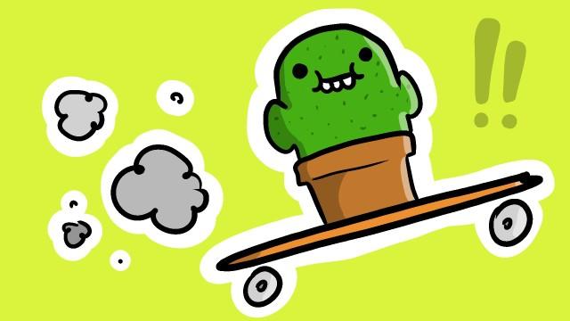 Cactus Su Uno Skateboard (Una Canzone Pungente)