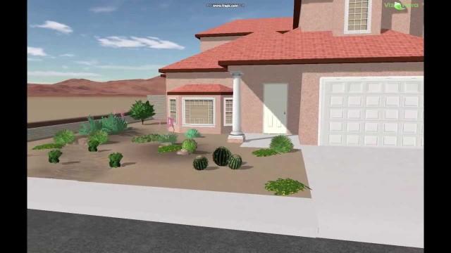 3D Front Yard Desert Landscape