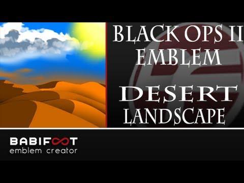 COD Black Ops 2 Emblem Tutorial   – Desert Landscape