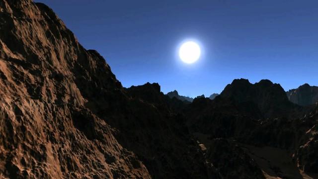 GPGPU Raytraced desert landscape