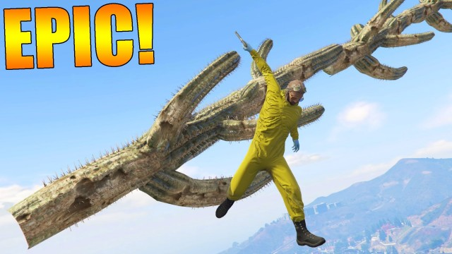 EPIC CACTUS QUI PIQUE !! GTA 5 ONLINE