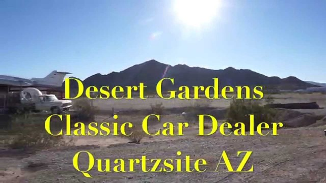 Quartzsite Desert Gardens Classic Cars…LearJet…Elvis….Copters and More!!  RVerTV
