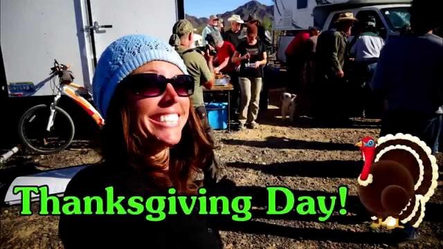 Off-grid Thanksgiving  Feast 2015; 45 Vandwellers in the Arizona Desert