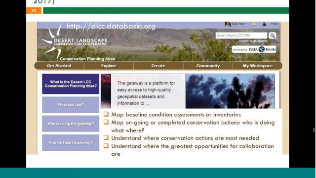 Webinar: Introduction to Desert LCC Landscape Conservation Planning and Design