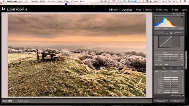 Lightroom dramatic Landscape photo editing