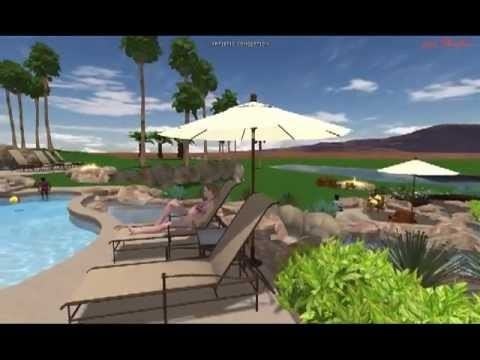 Exterior Images 3D landscape design Desert Ridge Estate
