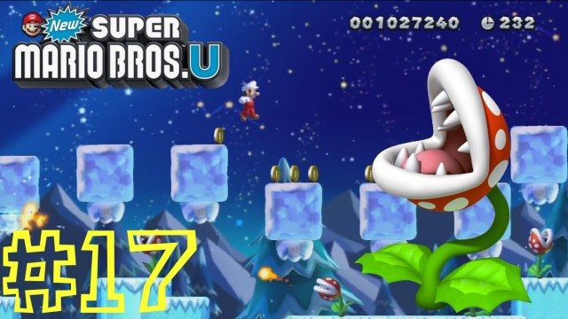 New Super Mario Bros. U — Layer-Cake Desert-Ice: Piranha Plants on Ice