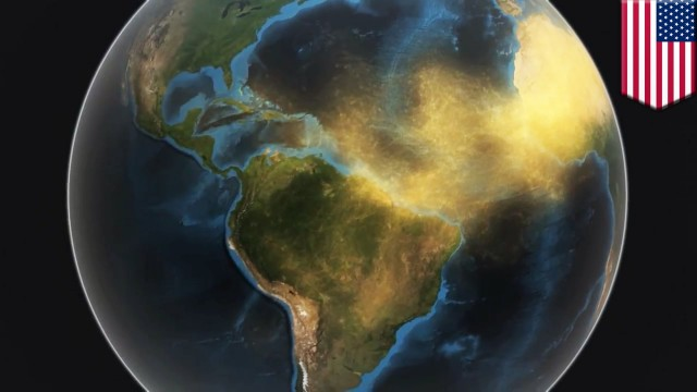 NASA animation shows how dust from the Sahara desert fertilizes plants in the Amazon rainforest