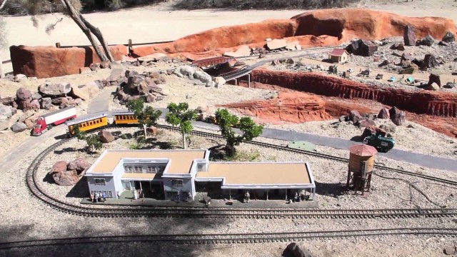 G-Scale Model Train Display at The Living Desert Zoo & Gardens, Palm Desert, CA (02/2016)