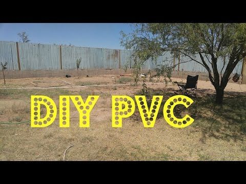 My DIY PVC above ground irrigation system in Az Desert Garden