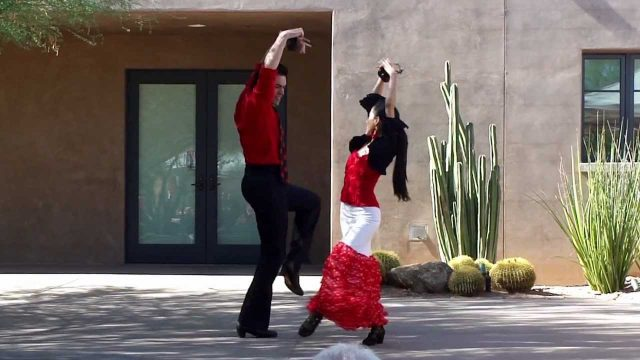 Flamenco Dance Phoenix at Chili and Chocolate festival at Desert Botanical Gardens Sevillas copla 1