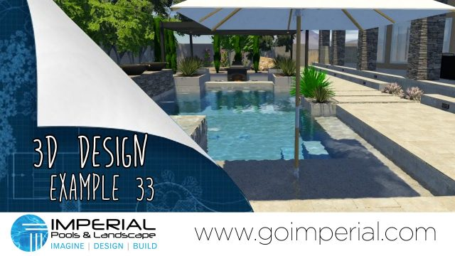 Arizona 3D Pool Design Example 33