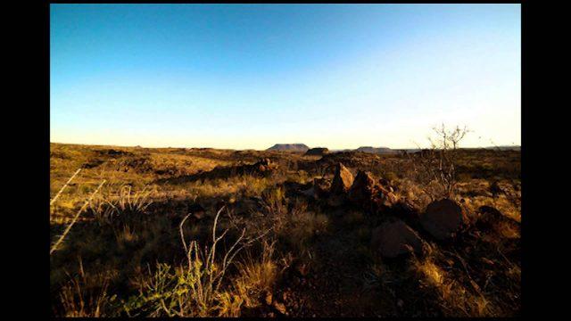 Sunrise in the Chihuahuan desert