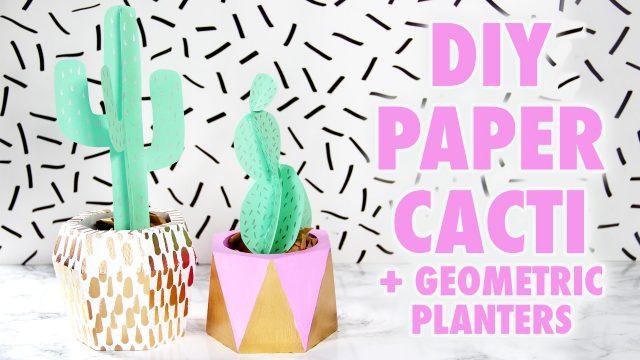 DIY Paper Cacti + Geometric Planters – HGTV Handmade