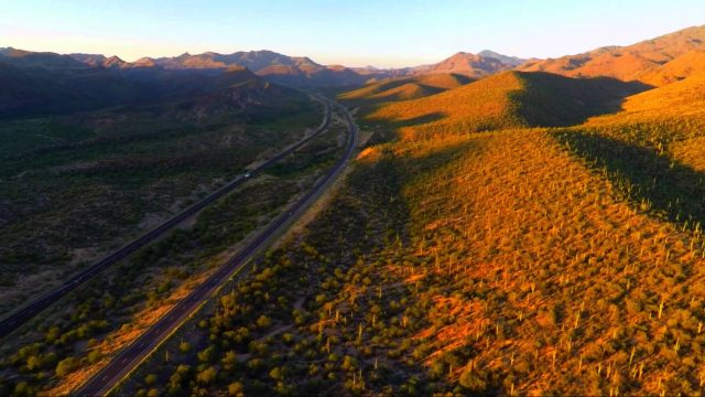 Sunset above the Arizona Desert with the 3DR Solo