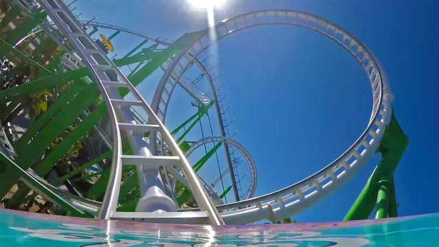 Desert Storm Roller Coaster POV Castles N Coasters Phoenix Arizona