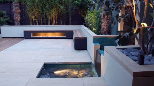 Contemporary landscaping of a north London back garden by mylandscapes garden designers