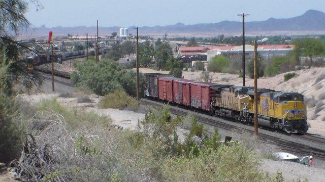 Desert Railroading – Union Pacific Trains In Yuma, Arizona
