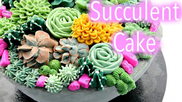 Buttercream Succulent Cake Decorating Tutorials – CAKE STYLE