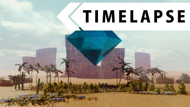 Desert Oasis Landscape – Modeling, Texturing, Rendering (BLENDER TIMELAPSE)