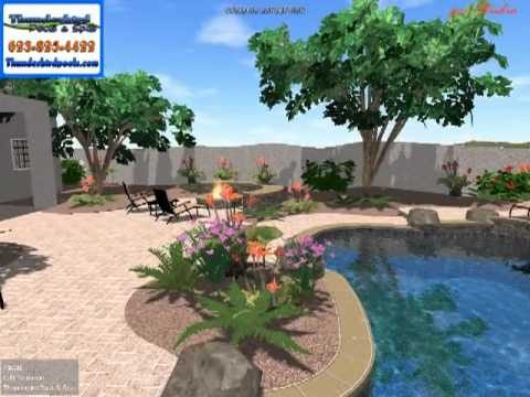 Thunderbird Pools and  AZ Sunset Landscape Yard Design