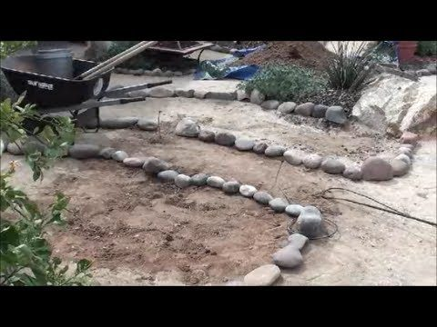 Building a Garden Bed with Rock Border – Arizona landscaping and backyard design