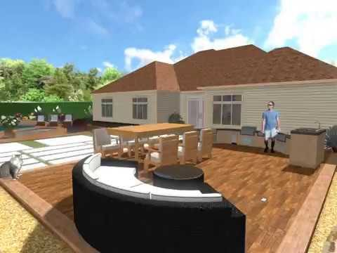 Xeriscape Waterwise Landscape Design 3D Design Walkthrough
