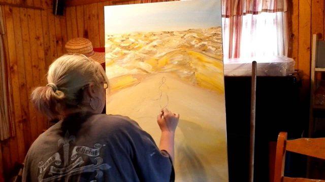 Oil painting _ Desert landscape