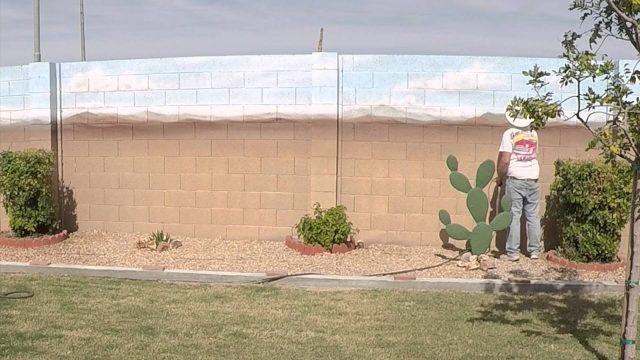 Airbrushed Desert Landscape