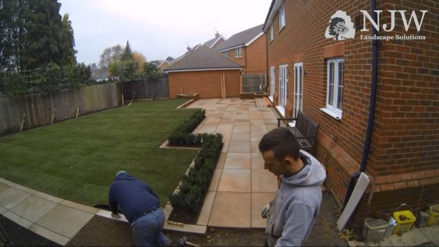 Contemporary Garden Makeover Timelapse – NJW Landscape Solutions