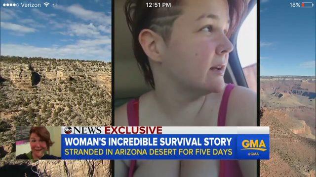 Woman stranded in desert