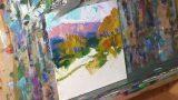 Artist JOSE TRUJILLO Oil Painting – Impressionist Desert Landscape Painting Demo