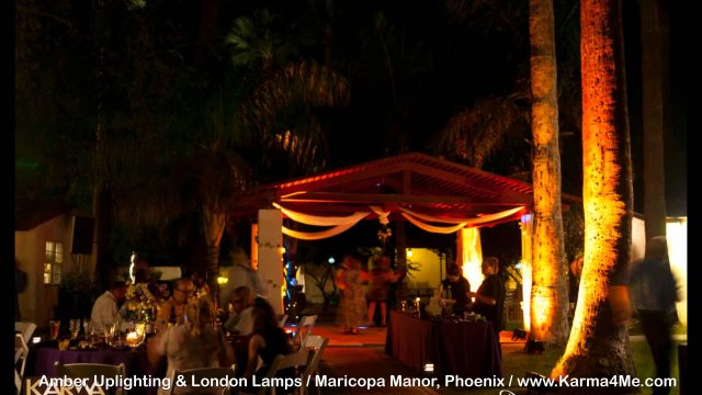 Outdoor Wedding Lighting Maricopa Manor Phoenix AZ   Karma4me.com