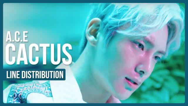 A.C.E – CACTUS (선인장) Line Distribution (Color Coded)