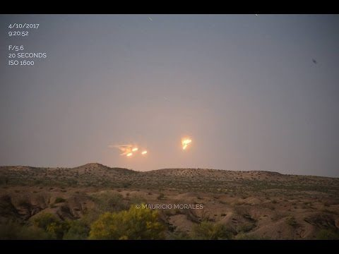 Amazing Footage: Crystal Clear Video OF MULTIPLE UFOs, While Driving Through the Arizona Desert