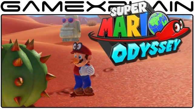 Super Mario Odyssey – A Bad Encounter w/ a Cactus & Running Around the Sand Kingdom (Direct Feed)