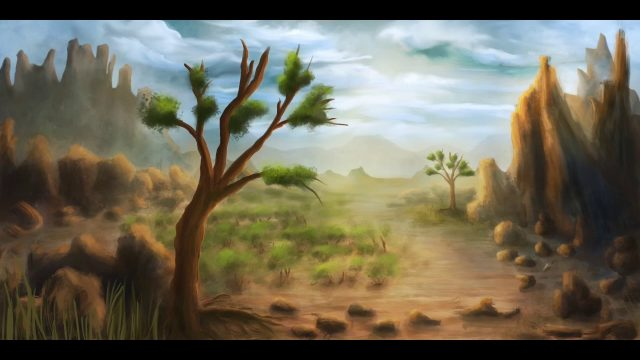 How to draw a desert landscape in ProCreate – Landscape April 2017